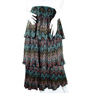 Think Closet Layered Pleated Skirt